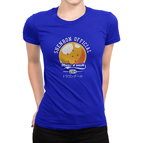 Planet Nerd DBZ: Make A Wish - Damen T-Shirt Blau