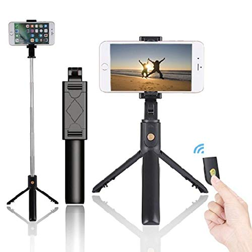 ZSAMSB Handy Bluetooth Selfie Stick Mit Stativ Integriert Multifunktions-Mini-Foto Live-Artefakt Universal