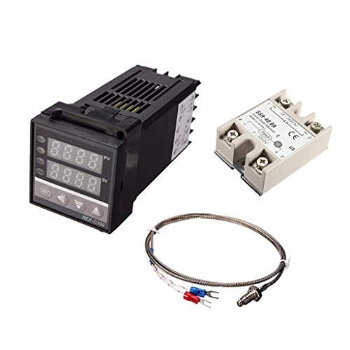perfk PID Thermoelement Regler SSR Output Digital PID Temperature Kontroller REX-C100 -