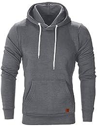9120891bc94 Innerternet Homme Sweat à Capuche à Manches Longues Hoodie Sweatshirt  Casual Tops ...