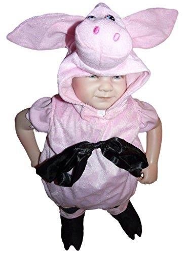 Sy29/00 Gr. 62-68 Schwein Kostüm für Fasching und Karneval, Kostüme für Baby Babies Kleinkinder, Faschingskostüm, Karnevalkostüm (Baby Jungen Schwein Kostüm)
