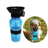 Bouteille pour Chien pour Outdoor Sport Voyage avec Sangle Portable Chien Mug, extérieur Feed Gourde pour Animal Domestique (Bleu)