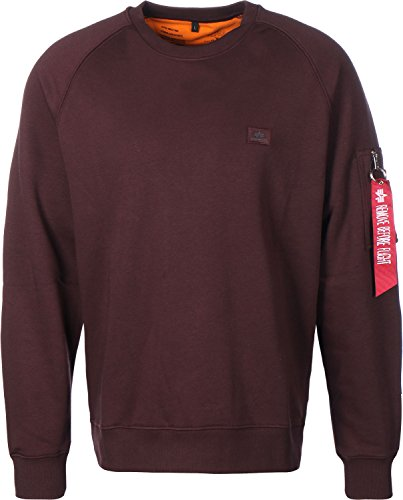 Alpha Industries Herren Sweatshirt Deep Maroon