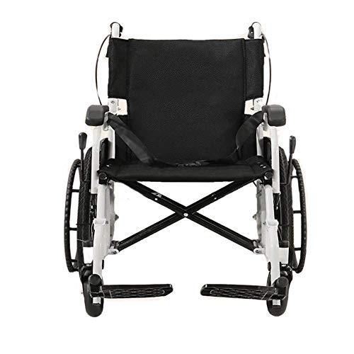 HHXX Leichter Rollstuhl , Tragbare, zusammenklappbare Aufbewahrung Kompakte Stahlrohr-Handbremsen Mobilität Antrieb Fußstützen Rollstühle -