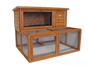 4ft Drop Hutch and Run includes Matching Cover by BUNNY BUSINESS