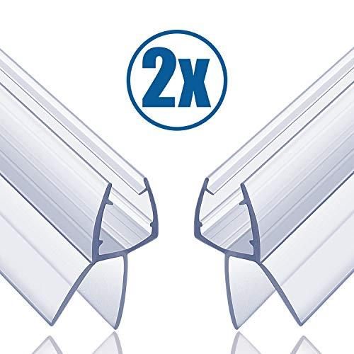 Butecare Premium 2 x 100 cm Duschtür und Duschkabinen Dichtung für 6mm, 7mm und 8mm Glasdicke - Verdickte PVC Dichtungen ,Universal Wasserabweiser Gummilippe Duschdichtung