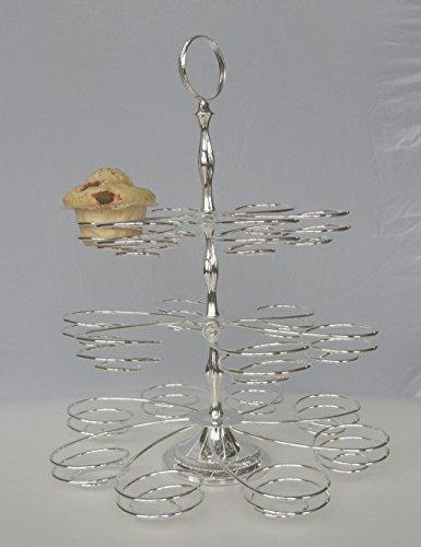 3 étages Tasse Support à gâteau – plaqué argent