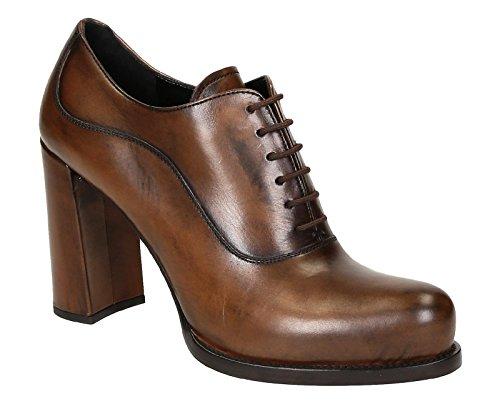 1T156GBRANDY Prada Chaussure mi montantes Femme Cuir Marron clair Marron Clair