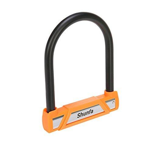 Shunfa Fahrradschloss, 0,65 Zoll Durchmesser gehärtetem Stahl Heavy Duty U Schloss für Fahrrad mit 3 Schlüsseln, Sicherheitsstufe 4