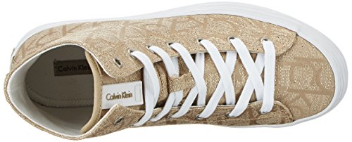 Calvin Klein Jeans Damen Zabrina Metallic Jacquard High-Top Gold (Gld)