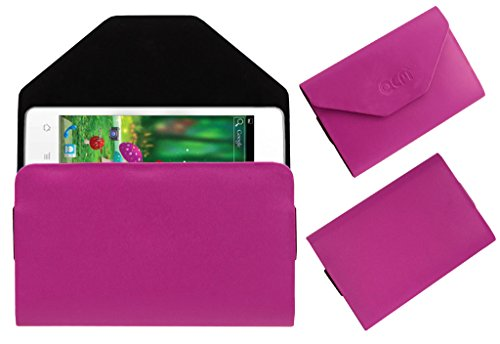 Acm Premium Pouch Case For Karbonn Titanium S1 Flip Flap Cover Holder Pink  available at amazon for Rs.179