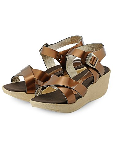 Nell Women Copper Solid Wedges ( Size-39)  available at amazon for Rs.345