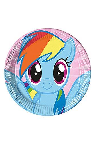 Hasbro 55720My Little Pony Party Dekoration Teller Papier, 23cm/groß