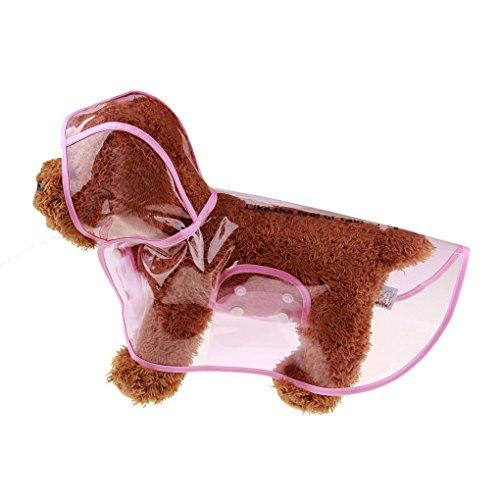 Lidahaotin Transparent Dog Raincoat Pet Wasserdichte Kleidung Jacke Poncho Rainsuit Kleine Große Hunde-Kleidung Sommer Welpen Regen Mäntel Rosa S (Regen-jacken Für Kleine Hunde)