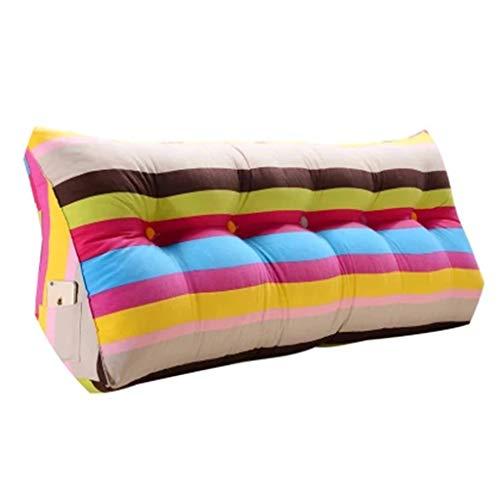 Coussins Coussin coussins triangulaires de sac souple Ceinture protectrice de dos coussins de coussins longs Ambiance magnifique arc-en-ciel chambre tatami canapé coussins longs