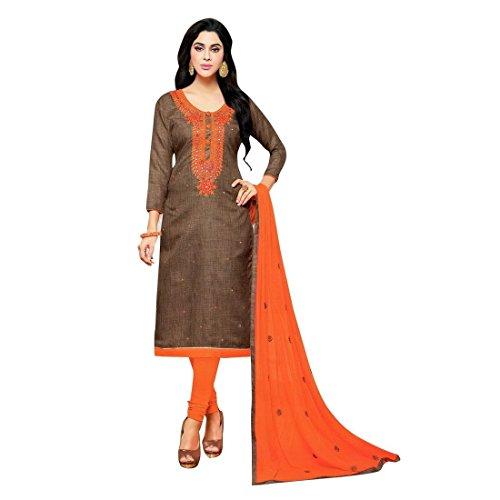 Lady Line Silk Embroidered Salwar Suit Indian Pakistani Salwar Suit/ Un-stitched dress...