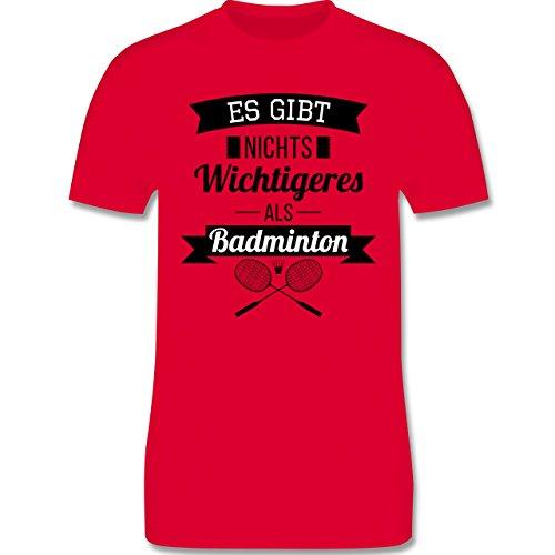 Sonstige Sportarten - Es gibt nichts Wichtigeres als Badminton - Herren Premium T-Shirt Rot