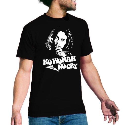 Bob Marley Premium T-Shirt No Woman No Cry - disponibile in diversi colori anche grande dall'acciaio 5XL