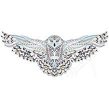 Gran pegatina transfer parche termoadhesivo buho volando para cazadoras, sudaderas, camisetas, bolsos...26 x 11 cm. de OPEN BUY