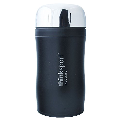 Thinksport go4th isolierten Lebensmittel Container mit Göffel–hält Essen Warm für 4Stunden, kalt für 8–500ml schwarz (Duluth Pack)