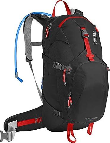 CamelBak Unisex Fourteener 24 Hydration Pack, Black/Fiery Red, 100