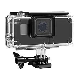 Itrunk Wasserdichtes Gehäuse Schutzhülle Mit Seitlicher Power Bank Für Gopro Hero 2018 Hero 6 Hero 5 Action Kamera