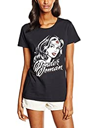 DC Comics Women's Wonder Woman Hint of Red T-Shirt