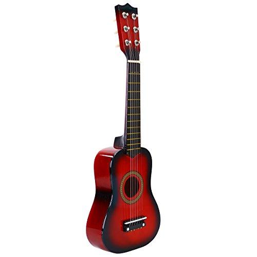 STOBOK Guitarra Acústica de Madera para Niños Portátiles Instrumento Musical para Niños Niños 21 Pulgadas Rojo