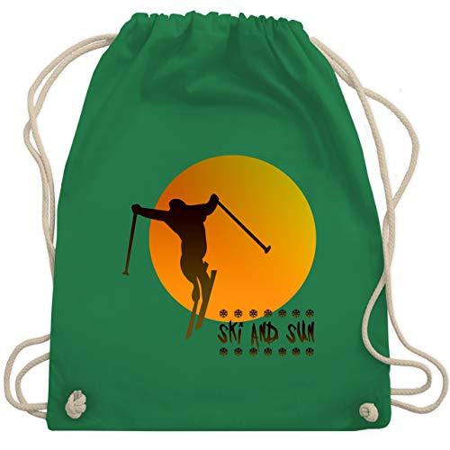 Après Ski - Ski and Sun - Skifahrer - Unisize - Grün - WM110 - Turnbeutel & Gym Bag