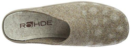 Rohde Damen Vaasa-d Pantoffeln Beige (leinen 17)