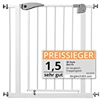 "IB-Style - Adjustable safety gate ""Berrin"" white 75 - 175 cm 