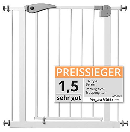 ib style Berrin Treppengitter 67-175 I Auto-Close I 90°Stop I Einhand-Bedienung