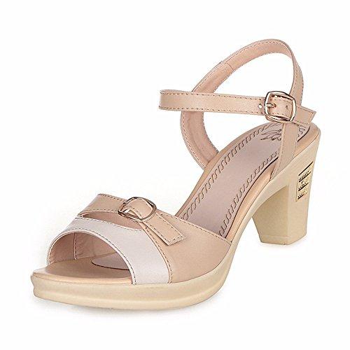 No. 55 Shoes Estate Sandali Donna con Vera Pelle Sottile e Scarpe Albicocca