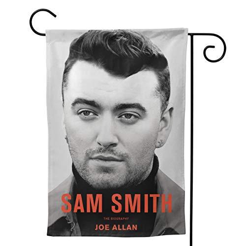YYTEBBBX Sam Smith Gartenflagge, weiß, 28
