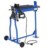 Sweepid Fendeur de bûches avec table en croix hydraulique électrique 2200W Fendeur de bûches 7 T 520 mm P (Bleu)