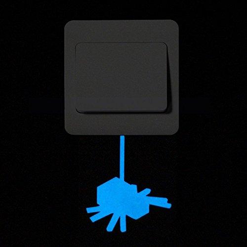 Gloaming Netter Schalter-Karikatur-Katze Miezekatze-leuchtender Aufkleber, Leuchtstoffwand-Aufkleber-Ausgangsschlafzimmer-Wohnzimmer-Dekor-entfernbare Tapete