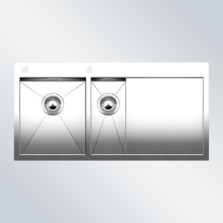 Preisvergleich Produktbild Blanco Zerox 6 S-IF Edelstahlspüle Seidenglanz Küchenspüle Spültisch Flacheinbau