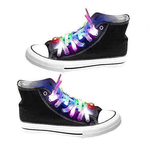OFKPO 1 Par Cordones de Zapatos LED Impermeables con 3 Modos luz...