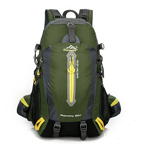 Männer und Frauen Schulter im Freien Berg Tasche Wanderrucksack army green