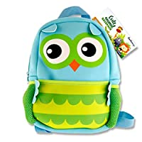 Premier Stationery Emotionery Neoprene Cute Animal Junior Backpack, Owl Children