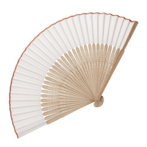 eBuyGB - Abanico de madera de bambú, accesorio de boda y regalo,...