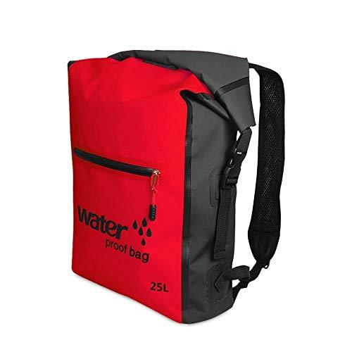 Seimuil 25L Outdoor wasserdichter Packsack Camping & Wandern,Sehr Praktisch,Werden Sie Brauchen (Farbe : Rot) -
