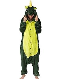 Grenouillères Animal Onesie Kigurumi Pyjamas Unisexe Adulte Costume Cosplay  Déguisement Hauts de Pyjama Combinaison Vêtement de 545557a672a