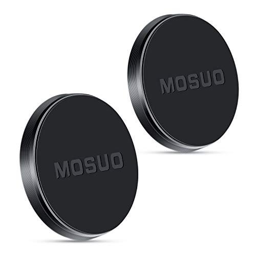 MOSUO Handyhalterung Auto Magnet, 2 Stücke KFZ Halterung Armaturenbrett Handyhalter fürs Auto Universal für iPhone X 8 7 Plus 7s Samsung Huawei Xiaomi GPS-Gerät usw, Schwarz
