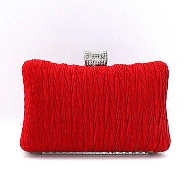 Prägnante diamond Bambus Frauen plissee Abend Tasche Handtasche Red