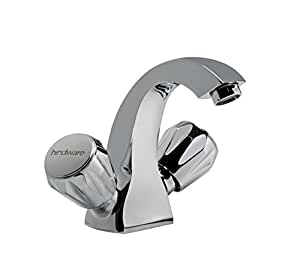 Hindware F290009CP Crystal Metal Centre Hole Basin Mixer - Chrome