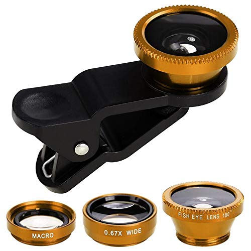EisEyen Handy Kamera Objektiv Set Fisheye Weitwinkel Makro Objektiv Kit Clip für Handy iPhone XS/xs max/xr/x/8 Plus,Samsung Galaxy Note s9/s8/s7 (Clip Für Handy)
