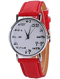 WINWINTOM El deporte de cuero cuarzo reloj de pulsera