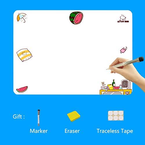 XM&ZF Magnetisches Kühlschrank Message Board,Wandaufkleber Familienplaner Notizen Cute Whiteboard Schreiben von Boards Magnetplatte Memo Für küche(9 x 13'')-S