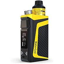 IJOY® RDTA BOX 100W E-Zigarette Vape Mod Box Kit - Alles in Einem Elektronische Zigarette mit GUI/VW/TC/Benutzerdefinierter Benutzermodus 2ml 0.05~0.3 Ohm 2600mAh Akku - Dampfer Kit (Gelb)